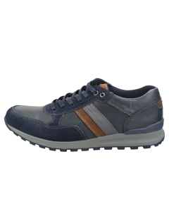 Sterling & Hunt BAXTER Men Casual Trainers in Navy Tan
