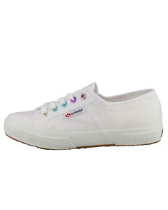 Superga 2750 COLORFUL EYELETS Women Fashion Trainers in White