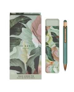 Ted Baker PENPALM TOUCH PEN AND POUCH Gift Set in Mid Green