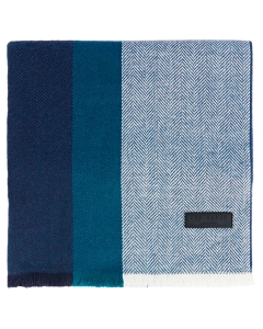 Ted Baker STRIPED WOVEN Scarf in Navy