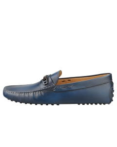 TOD'S MORSETTO CLAMP LEGNO GOMMINI Men Loafer Shoes in Navy