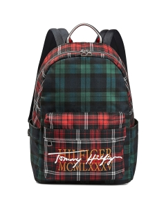Tommy Hilfiger CHECK SIGNATURE LOGO Backpack in Check