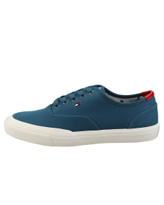 Tommy Hilfiger CORE OXFORD TWILL SNEAKER Men Casual Trainers in Blue White