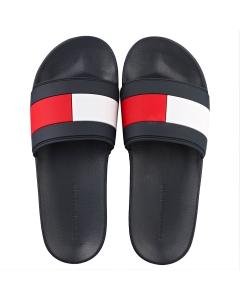 Tommy Hilfiger ESSENTIAL FLAG POOL Men Slide Sandals in Desert Sky