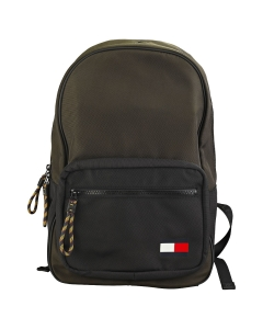 Tommy Hilfiger FLAG Backpack in Camouflage Green