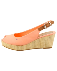 Tommy Hilfiger ICONIC ELBA SLING BACK Women Wedge Sandals in Coral