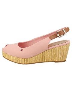 Tommy Hilfiger ICONIC ELBA SLING BACK Women Wedge Sandals in Soothing Pink