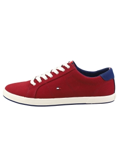 Tommy Hilfiger ICONIC LONG LACE Men Casual Trainers in Red Navy