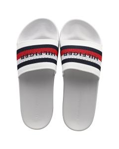 Tommy Hilfiger KNITED POOL Men Slide Sandals in White