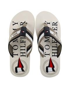 Tommy Hilfiger MARITIME Men Beach Sandals in White Grey Navy