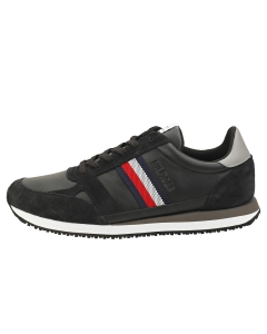 Tommy Hilfiger RUNNER LO STRIPES Men Casual Trainers in Black