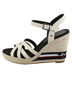 Tommy Hilfiger SEQUINS HIGH WEDGE Women Wedge Sandals in Ivory