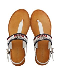 Tommy Hilfiger SHIMMERY RIBBON FLAT Women Walking Sandals in Ecru