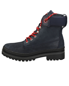 Tommy Hilfiger SPORTY OUTDOOR LACE UP BOOTIE Women Casual Boots in Navy