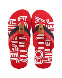 Tommy Hilfiger SUSTAINABLE Men Beach Sandals in Red