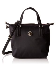 Tommy Hilfiger WOMENS POPPY SMALL TOTE Shoulder Bag in Black