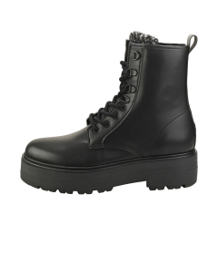 Tommy Jeans CHECK TONGUE LACE UP Women Ankle Boots in Black