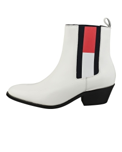 Tommy Jeans CORPORATE COWBOY BOOT Women Fashion Boots in White