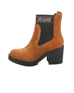 Tommy Jeans CORPORATE ELASTIC Women Ankle Boots in Cognac