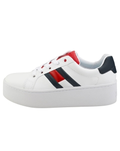 Tommy Jeans ICON SNEAKER Women Platform Trainers in White Navy Red