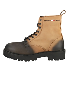 Tommy Jeans LACE UP BRUSHED Men Classic Boots in Cracked Earth Black