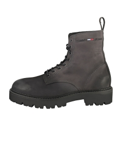 Tommy Jeans LACE UP BRUSHED Men Classic Boots in Dark Ash Black