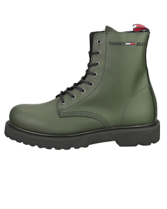 Tommy Jeans LACE UP Men Classic Boots in Camouflage Green