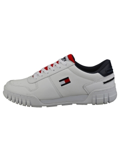 Tommy Jeans RETRO SNEAKER Men Fashion Trainers in Red White Blue