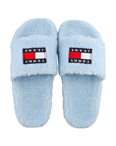 Tommy Jeans WARM LINING FLAG POOL Women Slippers Sandals in Light Blue