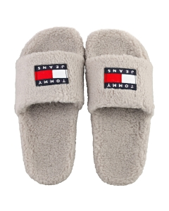 Tommy Jeans WARM LINING FLAG POOL Women Slippers Sandals in Grey
