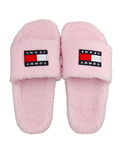 Tommy Jeans WARM LINING FLAG POOL Women Slippers Sandals in Pink