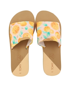 Toms CARLY Women Walking Sandals in Pink Multicolour
