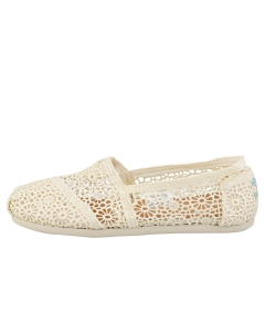 Toms CLASSIC MOROCCAN CROCHET Women Slip On Shoes in Natural