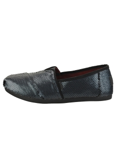 Toms CLASSIC SEQUIN Women Slip On Shoes in Black