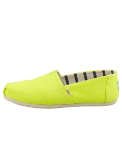 Toms CLASSIC VIVID CANVAS Women Slip On Shoes in Neon