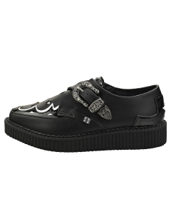TUK POINTED MONK CREEPER Women Creeper Shoes in Black White