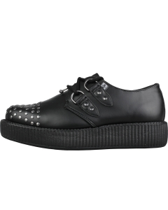 TUK STUDDED AND PIERCED VIVA LOW Women Creeper Shoes in Black
