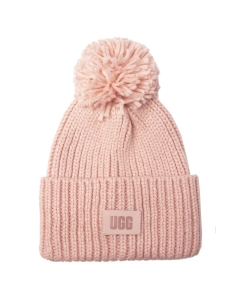 UGG CHUNKY RIB KNIT BEANIE Hat in Pink Cloud