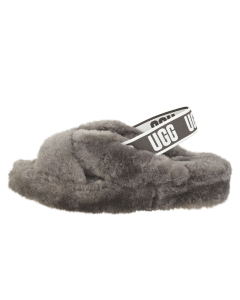 UGG FAB YEAH Women Slippers Shoes in Charcoal