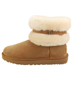 UGG FLUFF MINI BELTED Women Casual Boots in Chestnut