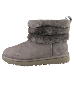 UGG FLUFF MINI QUILTED Women Classic Boots in Charcoal