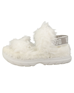 UGG FLUFF SUGAR Women Walking Sandals in White