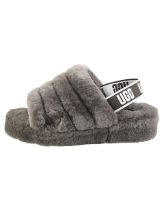 UGG FLUFF YEAH SLIDE Women Slippers Sandals in Charcoal