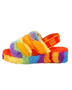 UGG FLUFF YEAH SLIDE CALI COLLAGE Women Slippers Sandals in Multicolour