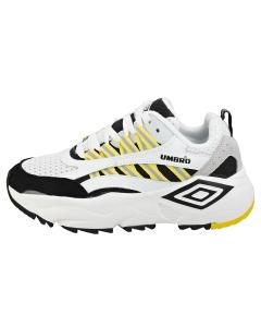 Umbro NEPTUNE Women Platform Trainers in White Black Yellow